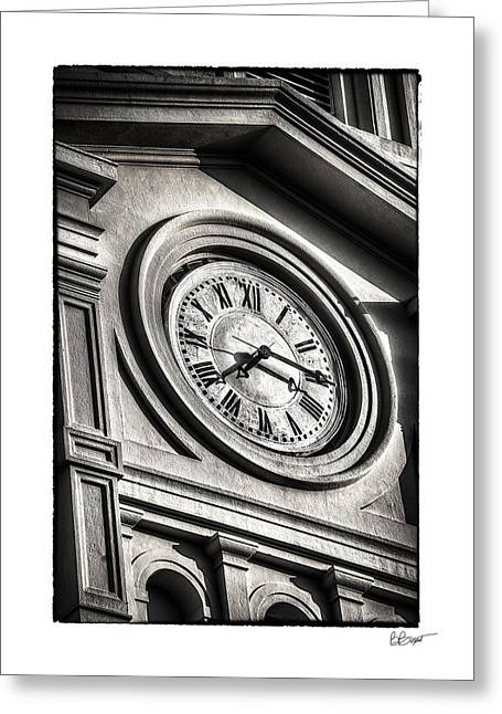 Time In Black And White Greeting Card