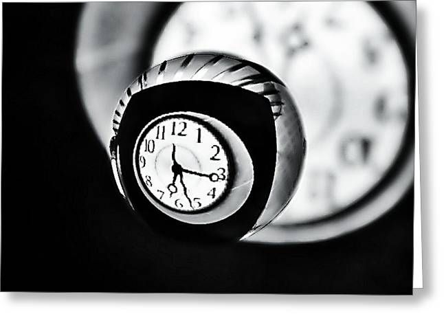 Time Is Up... Greeting Card by Marianna Mills