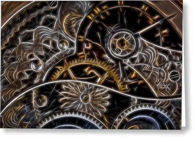 Time Machine 2 Greeting Card by Eduard Moldoveanu