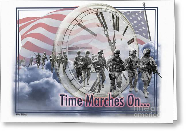Time Marches On Greeting Card