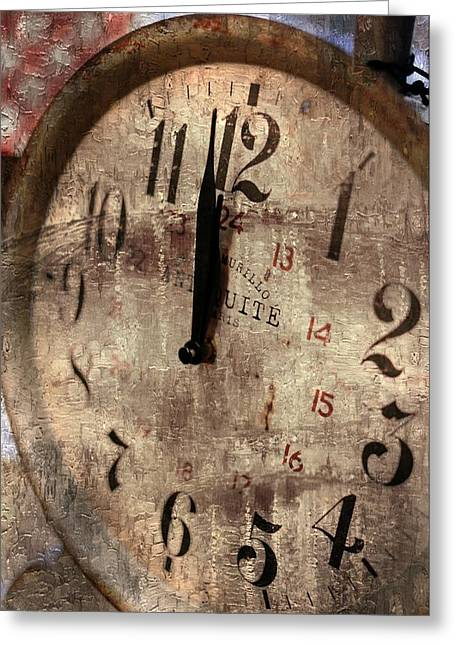 Time Moves Greeting Card by Michael Hope