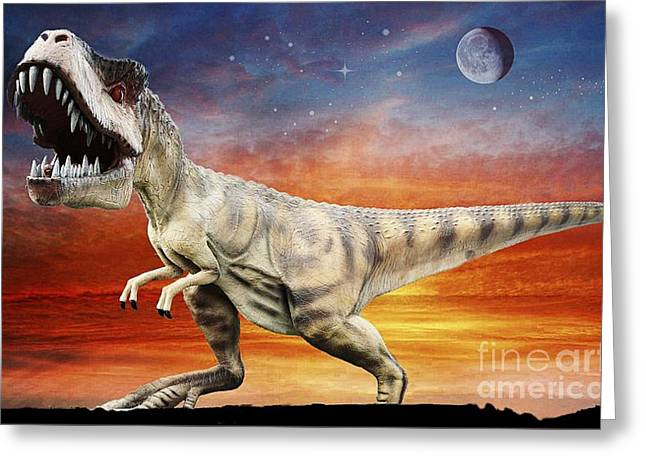 Time Of The Dinosaurs Greeting Card by Ian Gledhill
