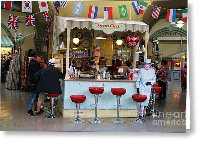 Time Out Snack Bar In Bath England Greeting Card by Jack Schultz