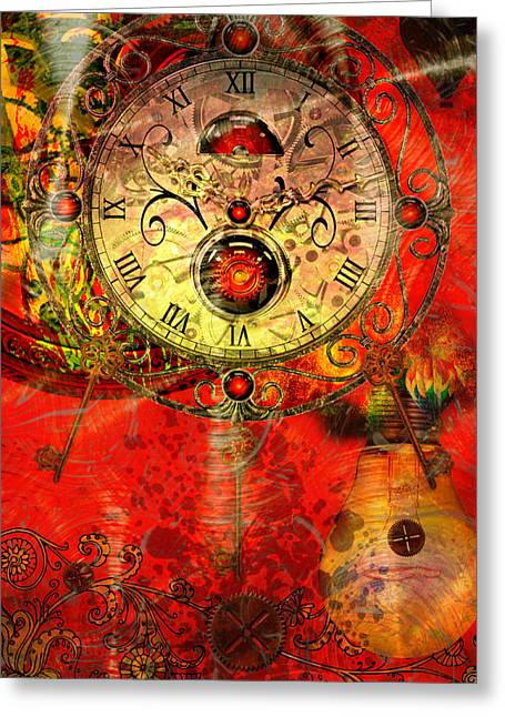 Time Passes Greeting Card by Ally  White