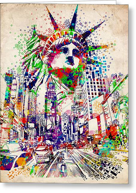 Times Square 3 Greeting Card