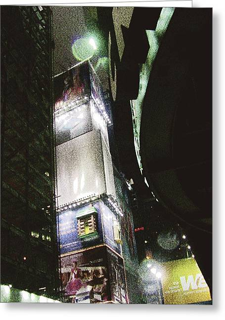Time Square In Nyc Greeting Card by Mieczyslaw Rudek