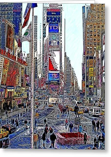 Time Square New York 20130503v6 Greeting Card