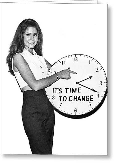 Time To Change Greeting Card by Underwood Archives