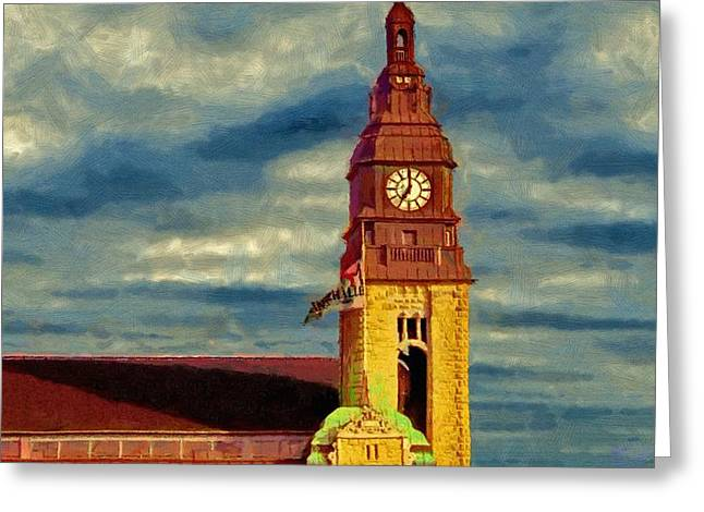 Greeting Card featuring the painting Time To Go by Jeff Kolker