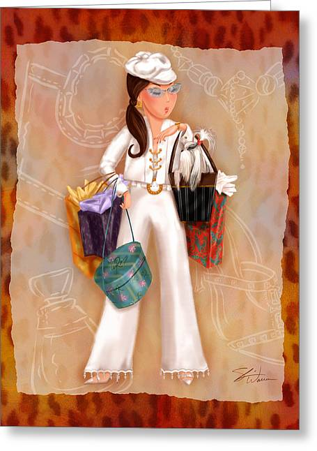 Time To Shop 3 Greeting Card by Shari Warren