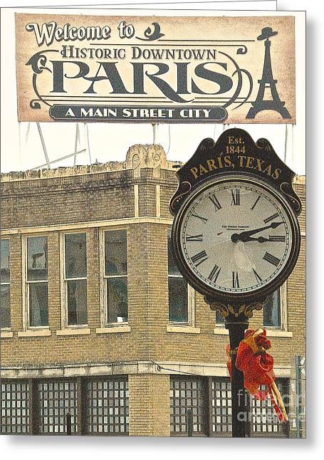 Time To Visit Paris Greeting Card by Dee Dee  Whittle
