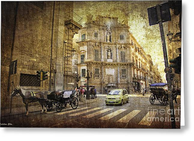 Time Traveling In Palermo - Sicily Greeting Card
