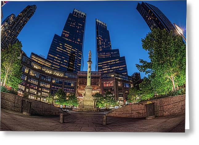 Time Warner Center  New York City, New Greeting Card