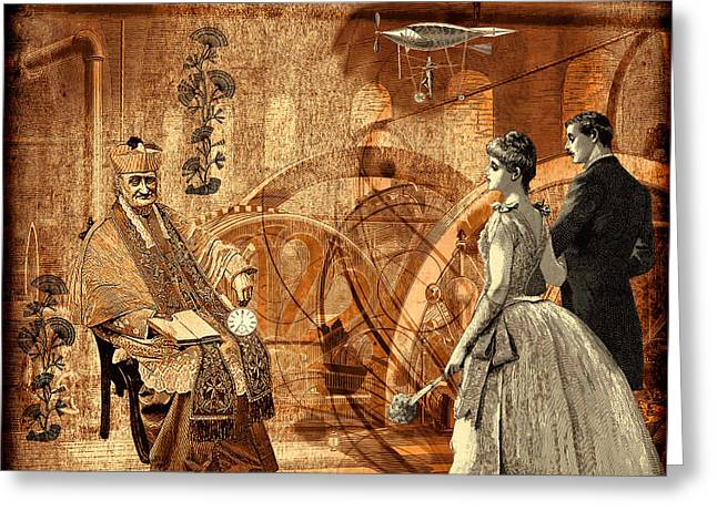 Timekeeper Steampunk Greeting Card