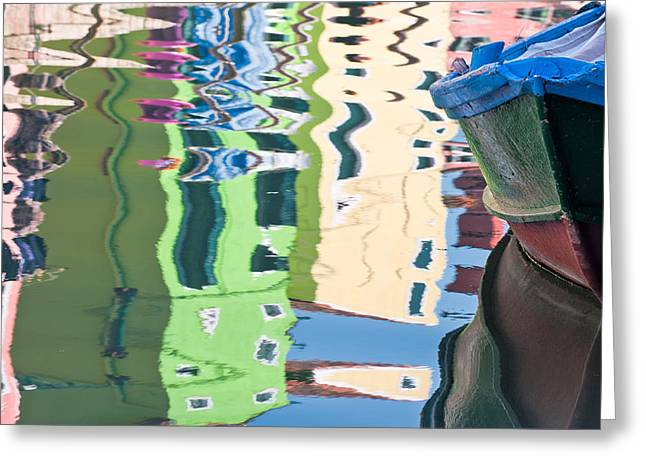 Timeless Colors Of Burano Greeting Card by Joan Herwig