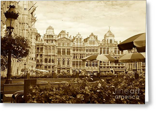 Timeless Grand Place Greeting Card by Carol Groenen