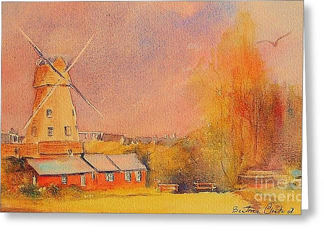 Greeting Card featuring the painting Timeless Rye by Beatrice Cloake