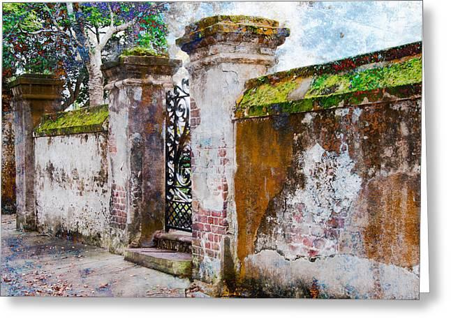 Brick Wall Charleston South Carolina Greeting Card