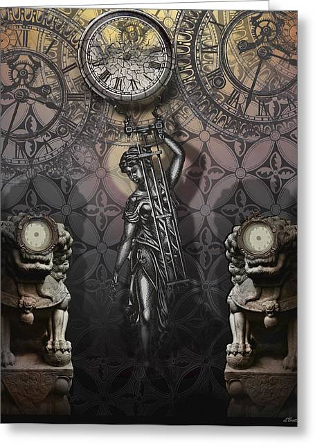 Timepiece Greeting Card by Larry Butterworth