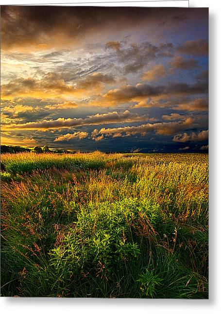 Times Of Old Greeting Card by Phil Koch
