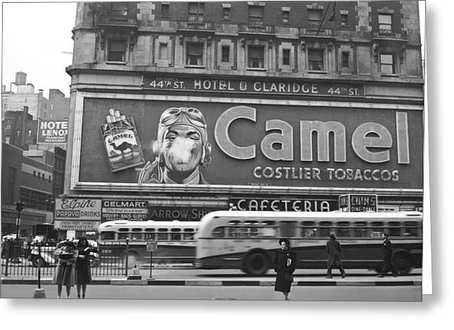 Times Square Advertising Greeting Card by John Vachon
