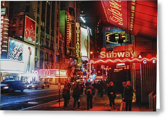 Times Square  Greeting Card by Anthony  Myers