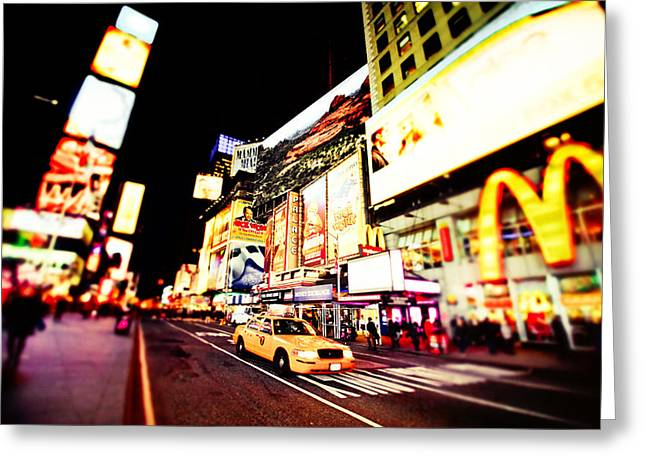 Times Square At Night - New York City Greeting Card by Vivienne Gucwa