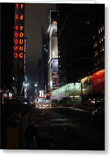 Times Square From 7th Ave Greeting Card