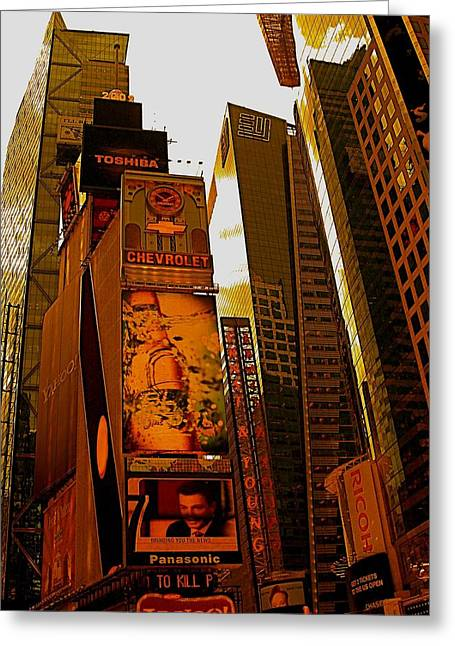 Times Square In Manhattan Greeting Card