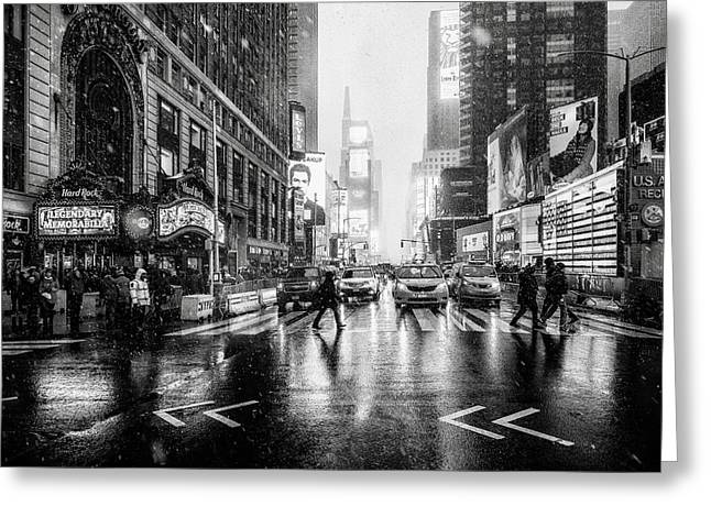 Times Square Greeting Card by Jorge Ruiz Dueso