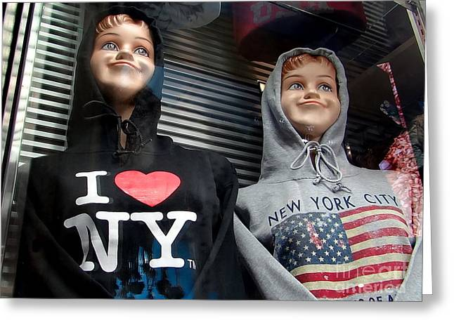 Times Square Kids Greeting Card by Ed Weidman