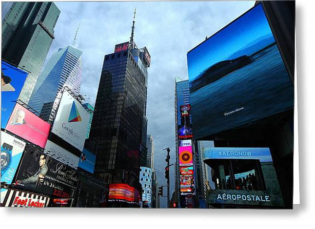 Greeting Card featuring the photograph Times Square by Linda Edgecomb