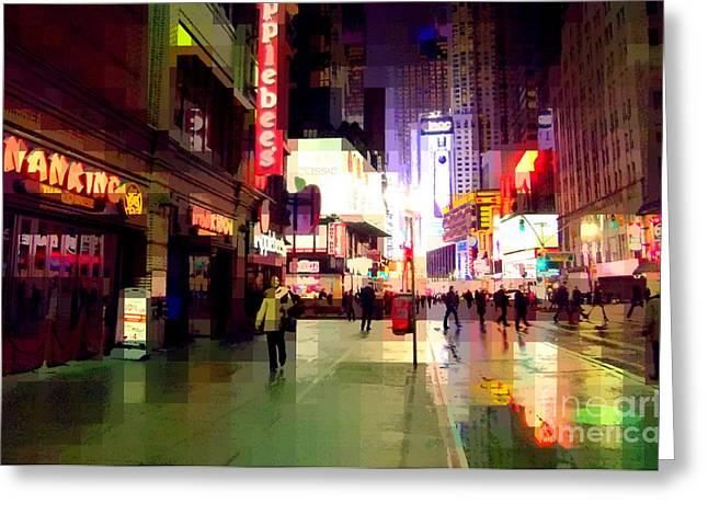 Times Square New York - Nanking Restaurant Greeting Card