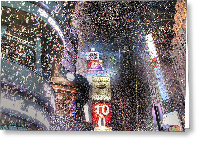 Times Square - New Years  Greeting Card by David Yack
