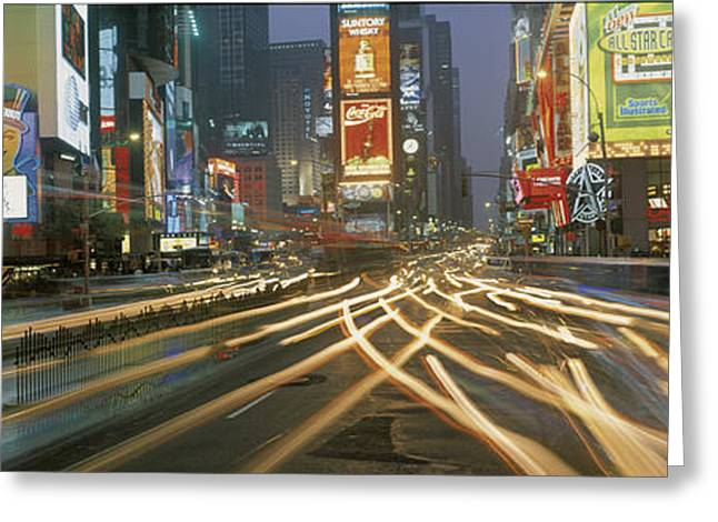 Times Square New York Ny Greeting Card by Panoramic Images