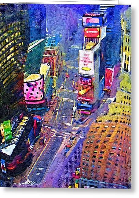 Times Square Nyc Greeting Card by Bud Anderson