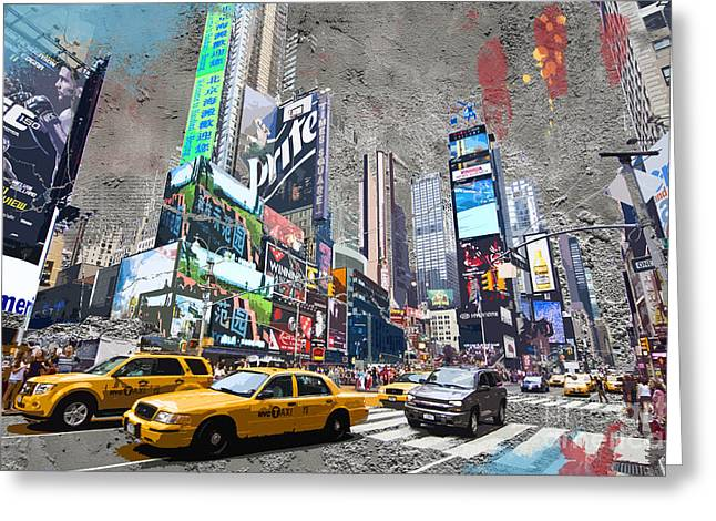 Times Square Street Creation Greeting Card