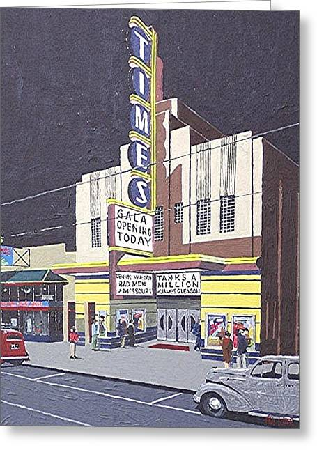 Times Theatre Greeting Card by Paul Guyer