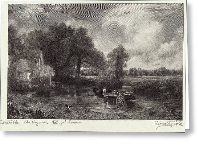 Timothy Cole After John Constable, The Haywain Greeting Card