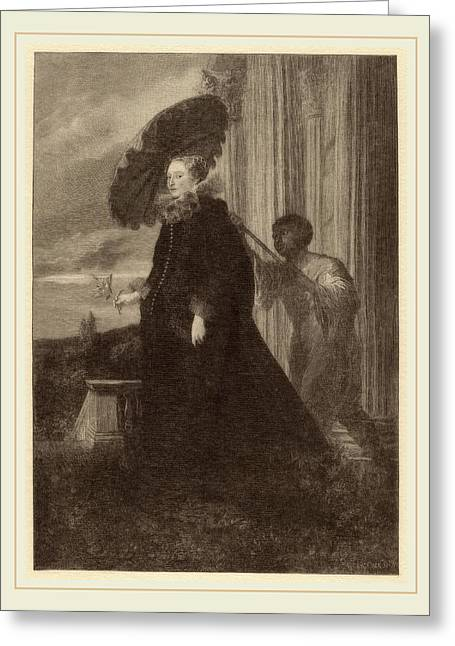 Timothy Cole After Sir Anthony Van Dyck, Marchesa Elena Greeting Card