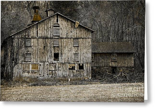Tin Cup Chalice Rustic Barn Greeting Card