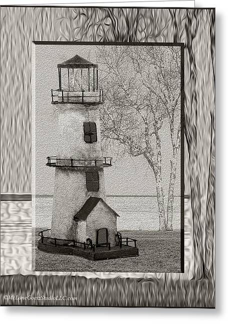 Tin Lighthouse Art Greeting Card