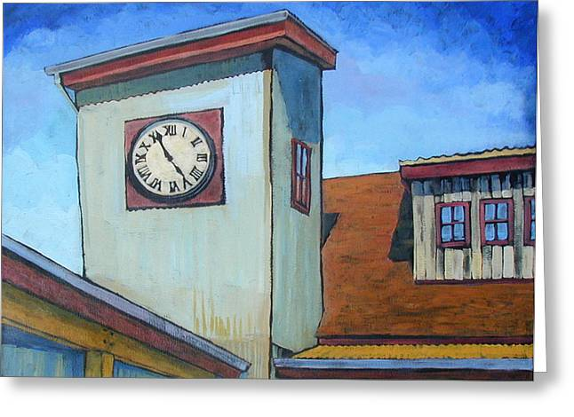 Tin Roof Shed Greeting Card by Al Hart