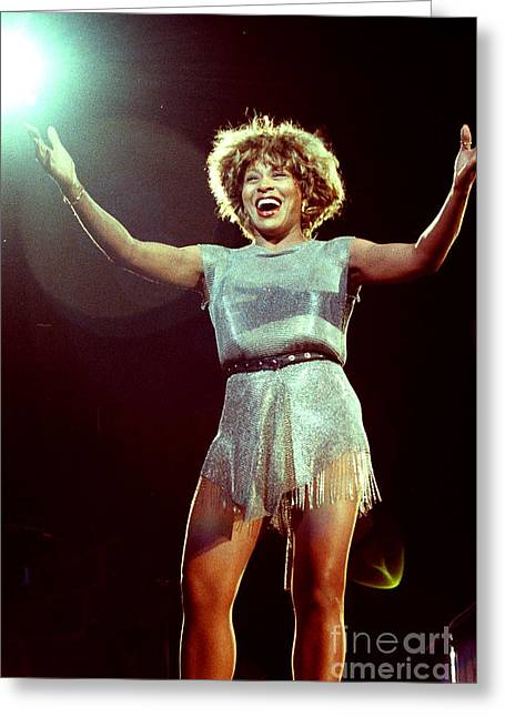 Tina Turner - 0458-1 Greeting Card by Gary Gingrich Galleries