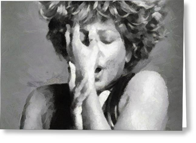 Tina Turner - Emotion Greeting Card by Paulette B Wright