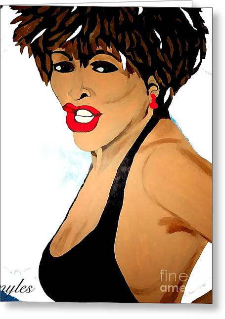 Tina Turner Fierce 3 Greeting Card