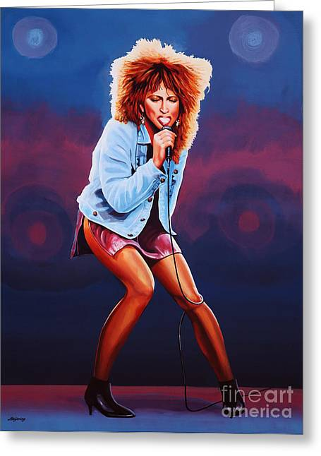 Tina Turner Greeting Card by Paul Meijering
