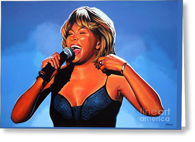 Tina Turner Queen Of Rock Greeting Card by Paul Meijering