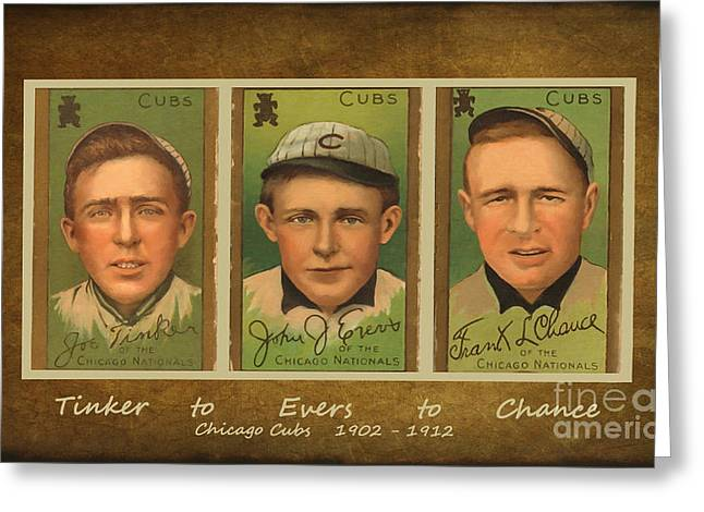 Tinker To Evers To Chance Greeting Card
