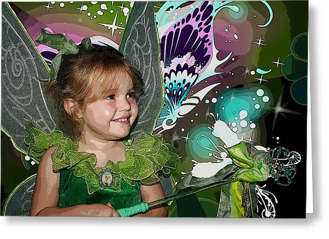 Tinkerbell Greeting Card by Ellen Henneke